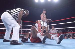 Ali Knocks Down Foreman