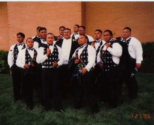 Rudy With His Dallas Cowboys Groomsmen