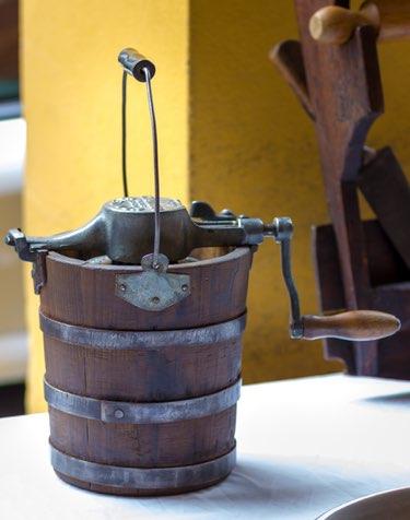 old ice cream bucket